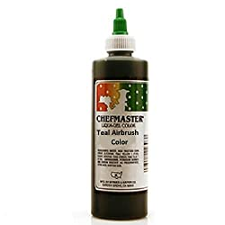 Chefmaster Airbrush Spray Food Color, 9-ounce, Teal