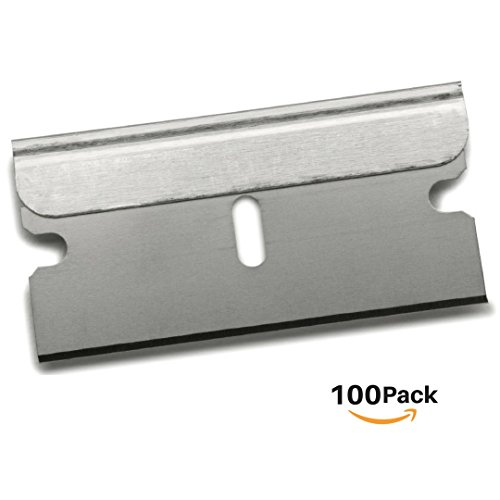 SOLARDIAMOND Single Edge Industrial Razor Blades | Box Cutter Replacement Blades Scraper & More | Utility Knife Blades | 100 Pack - Industrial Box