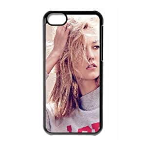 Hg28 Karlie Kloss Modelo Chica Natural Pose iPhone 5C caja del teléfono celular funda Negro caja del teléfono celular Funda Cubierta EEECBCAAJ78790