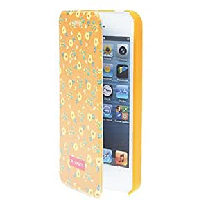 RC - Quality Design Beautiful Little Yellow Flowers Pattern Smart Full Body Case with Matte Back Cover for iPhone 5/5S