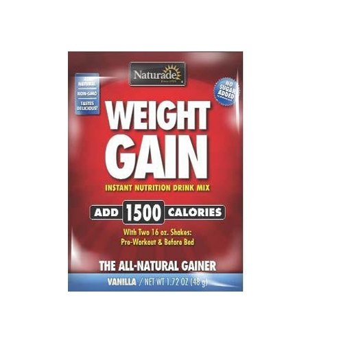 Naturade Weight Gain Packet - Case of 25 - 1.72 oz