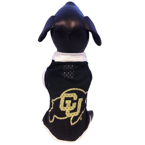 NCAA Colorado Golden Buffaloes Athletic Mesh Dog Jersey (Team Color, Medium)