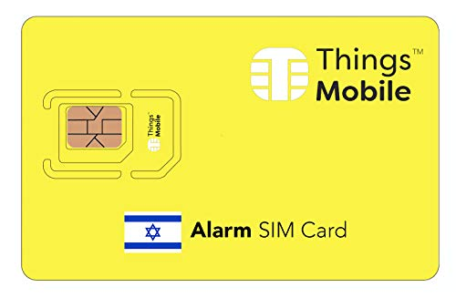 SIM Card for ALARM in ISRAEL - Things Mobile - global coverage, multi-operator GSM/2G/3G/4G network, no fixed costs. €10 of credit included