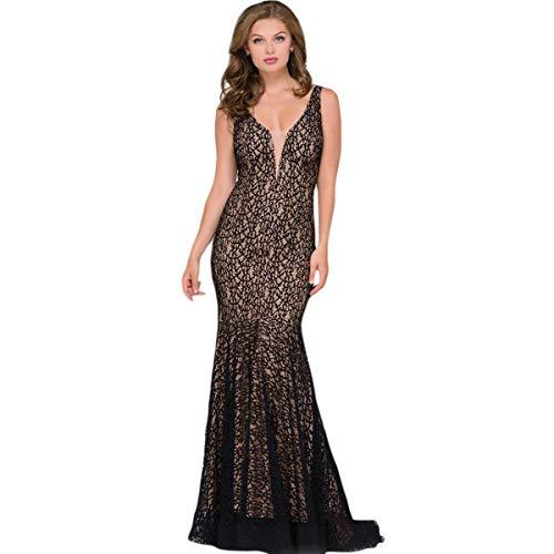 (Jovani 42784A Lace Prom Evening Dress Black 00)