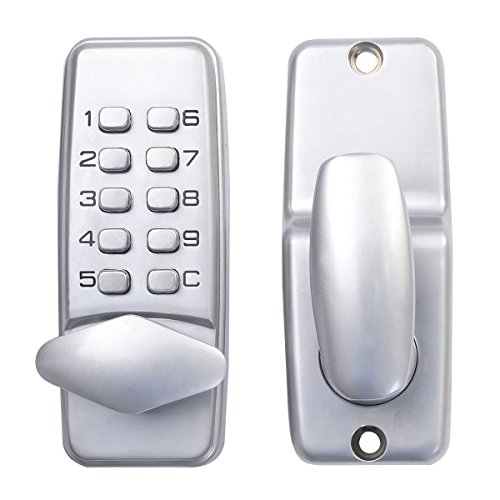 Keyless Digital Machinery Code Keypad Password Security Entry Door Lock New Wood Door