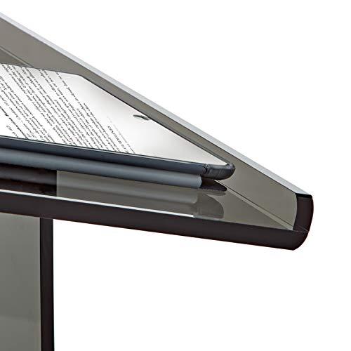AdirOffice Acrylic Stand up, Floor-Standing Podium, Lectern (See Through Black) by AdirOffice (Image #4)