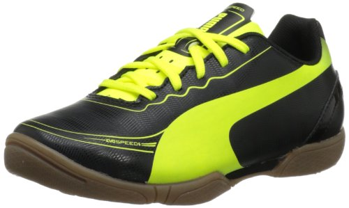 PUMA Evospeed 5.2 IT Soccer Cleat ,Black Fluorescent Yellow,