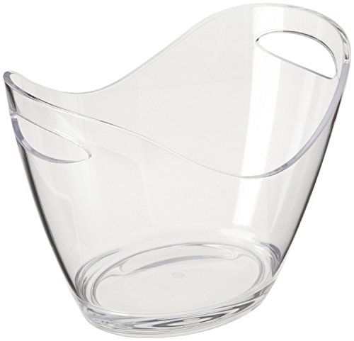 Agog - Ice Bucket Clear Acrylic 3.5 Liter Good for up to 2 Wine or Champagne Bottles Ice Bucket by AGOG (Image #1)