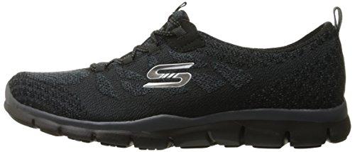 Negro punto Gratis Mujer elegante Zapatillas de negro y Skechers elegante deporte Deportivo qPfW5C