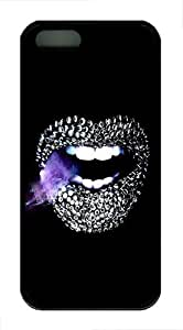 IMARTCASE iPhone 5S Case, Diamond Lips Graphics Durable Case Cover for Apple iPhone 5S/5 TPU Black