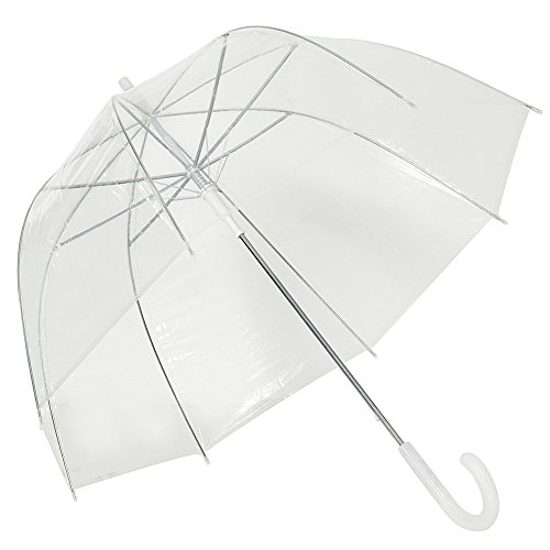 Clear Bubble Umbrella Dome Shape Transparent Umbrella for Weddings Windproof by TOSOAR