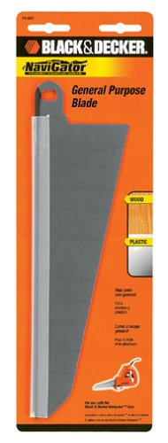 BLACK+DECKER 74-591 Large Wood Cutting Blade for SC500 Navigator - Jigsaw Blades Decker Black