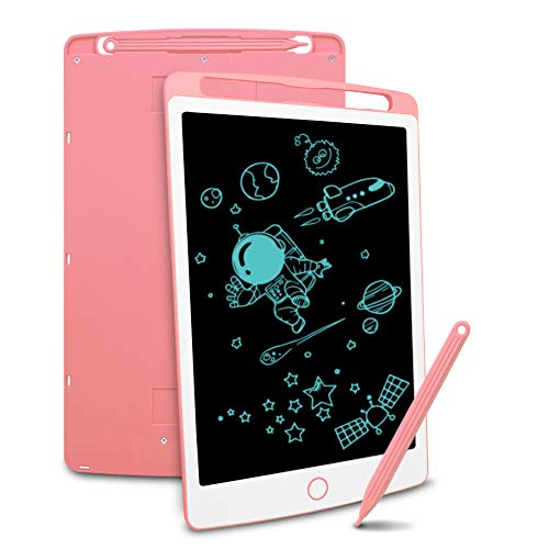 Richgv LCD Writing Tablet, Electronic Graphic Tablet, Writing & Drawing Doodle Board for Home, School,Office, Pink,8.5 inches