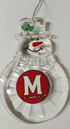 (NCAA Maryland Terrapins Traditional Snowman Ornament)