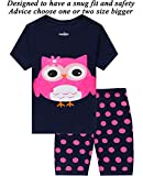 Little Pajamas Owl Sleepwear 100% Cotton Summer Short Toddler Pjs Clothes Shirts 10T