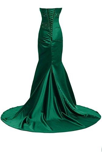 Donne Verde Delle Dobelove Della Raso Il Sirena Vestito Lungo 8a78YTn