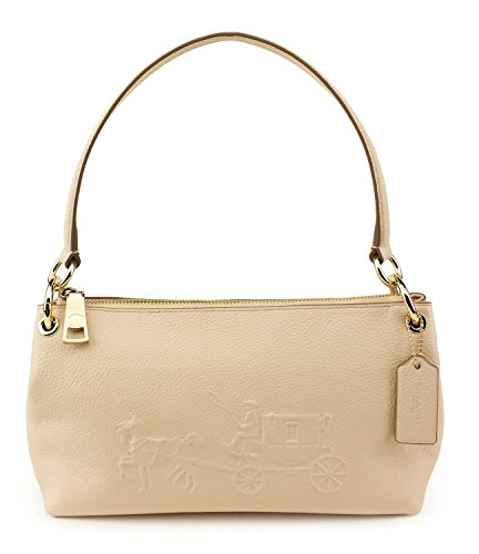 Coach Apricot Embossed Horse & Carriage Charley Crossbody - Handbag Horse And Coach Carriage