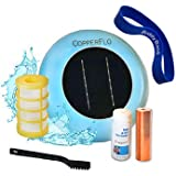 CopperFlo Solar Pool Ionizer - High Capacity | 85% Less Chlorine | Lifetime Replacement Warranty | Kill Algae | Longer…