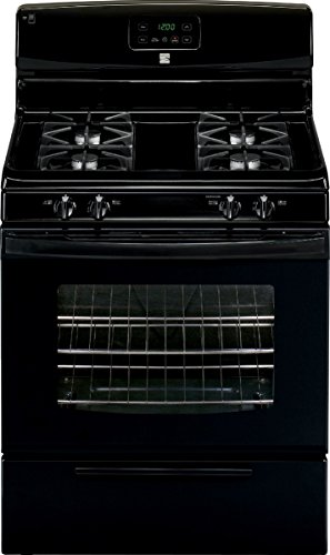 Kenmore 73239 4.2 cu. ft. Gas Range with Broil and Server Drawer, Black
