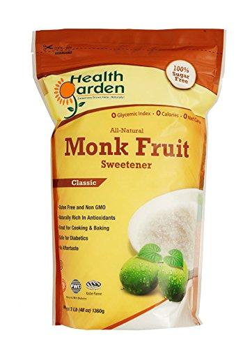 Monk Fruit Sweetener Classic Health Garden (2 x 1 LB) by HEALTH GARDEN