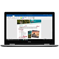 Dell Inspiron 7000 15.6 FHD 2-in-1 Touchscreen Laptop-Intel Core i5-7200U,8GB Memory ,256GB Solid State Drive,802.11AC, Bluetooth, USB Type C, HDMI, IR Camera- Silver