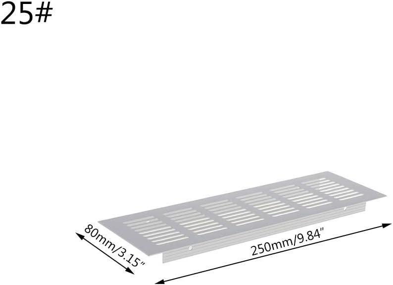 Argent Alliage daluminium de 30 cm JOYKK Grille de Ventilation en t/ôle perfor/ée /à /évent en Alliage daluminium