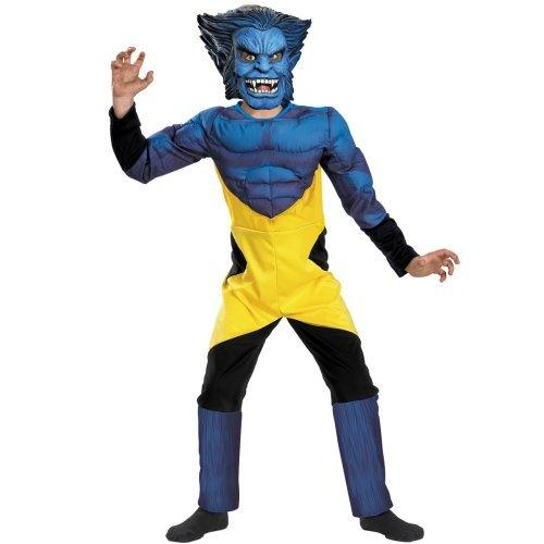 X-Men Beast Deluxe Muscle Child Costume (Medium)