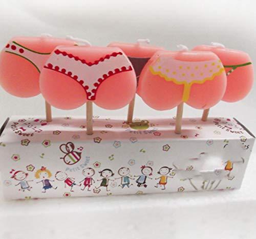WWWL Creatieve kaars 5 Stks/set Grappige Bikini Verjaardag Kaarsen Party Cake Kaarsen Cake Cupcake Topper Decoratie…