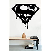 USA Decals4You | Superhero Wall Decals Superman Logo Vinyl Decor Stickers MK0445