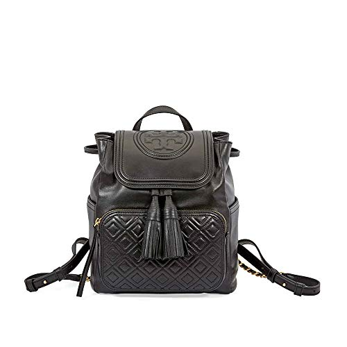 (Tory Burch Women's Fleming Backpack, Black, One Size)
