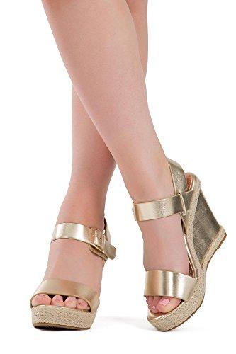 Lusty Chic - Zapatos con tacón mujer dorado