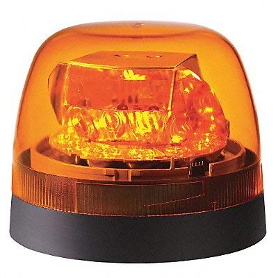Federal Signal 272650-02 Amber Dome Class 2 SLR LED Beacon (Permanent/Pipe Mount): Automotive