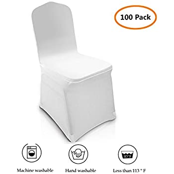 Groovy Amazon Com 100Pcs Universal Spandex Chair Covers Spandex Download Free Architecture Designs Rallybritishbridgeorg