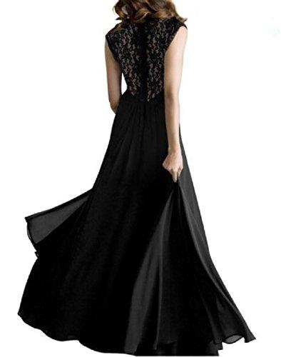 Coolred-femmes En Mousseline De Soie Coutures Du Soir En Dentelle De Mode Froncé Grand Pendule Noir Robe Longue