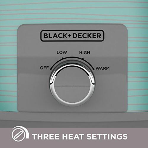 BLACK+DECKER SC2007D Slow Cooker, 7 quart, Teal Wave