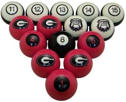 WAVE NCAA Georgia Bulldogs numerados – Juego de Bolas de Billar de ...