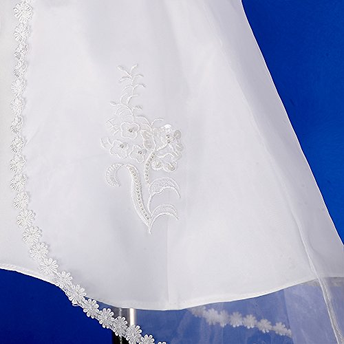 3354353c80ea Dressy Daisy Baby Girls  Pearls Embroidered Baptism Christening Gown ...