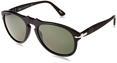 Persol PO0649 95/31 Black Gloss PO0649 Aviator Sunglasses Lens Category 3 - 54 Po0649 Persol