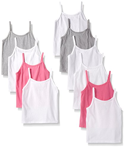 Hanes Girls' 10-Pack Cami Bundle, Assorted, Medium