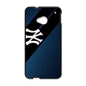 2015 Bestselling yankees Phone Case for HTC M7 Black