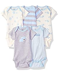 Gerber baby-boys 5-pack Organic Short-sleeve Onesies Bodysuits infant-and-toddler-bodysuits