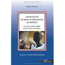 L'effectivité du droit à l'éducation au Sénégal
