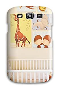 Awesome Case Cover/galaxy S3 Defender Case Cover(jungle-themed Nursery Animal Artwork) by lolosakes