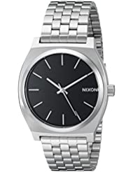 Nixon Time Teller All Black/Stainless Steel Unisex Watch (37mm. Black Face/Stainless Steel Band)
