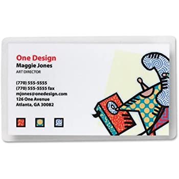 Amazon Com Sparco Laminating Pouch Business Card 2 3