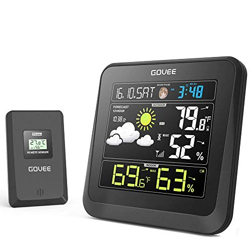 Govee Wireless Weather Station with Color LCD Displasy