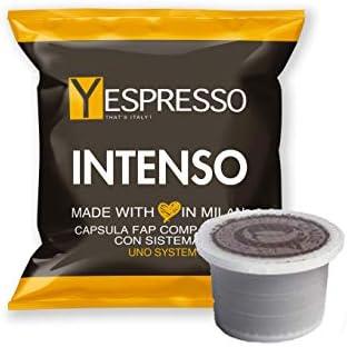 Yespresso Capsule Uno Indesit System Illy Kimbo Compatibili Intenso – Confezione da 100 Pezzi