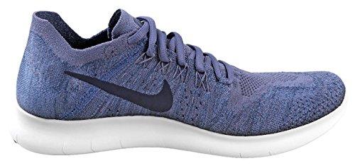 Nike Mens Fria Rn Flyknit 2017 Löparskor Ljus Kol / Obsidian-hav Dimma