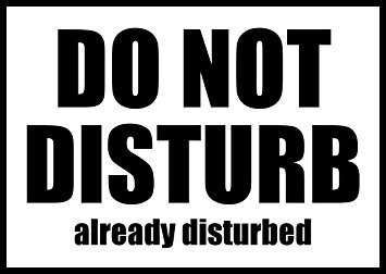 CCI Do Not Disturb Already Disturbed Funny Decal Vinyl Sticker|Cars Trucks Vans Walls Laptop| Black |5.5 x 3.75 in|CCI1661
