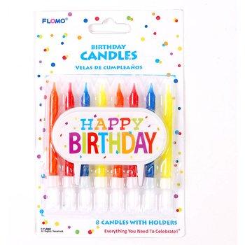 DDI 2277015 - Decoración para tartas de cumpleaños (8 velas ...